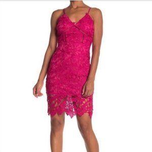 Love...Ady Lace Hot Pink Dress Size S